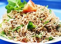 Bee worm salad in Ca Mau