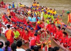 Boat Racing Festival in Laos