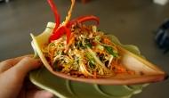 Cambodia Nhoim Troyong Chiek (Banana flower salad)