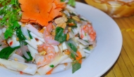 Coconut and marine salad in Ben Tre