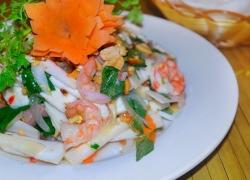 Coconut and marine salad in Ben Tre