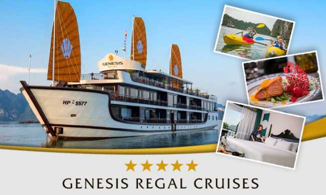 Genesis Regal Cruises - One of the leading luxury fleets in Halong - Lan Ha Bay