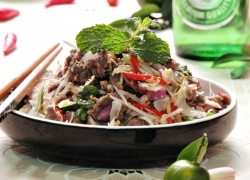 Nham (Go Cong-style salad) in Tien Giang