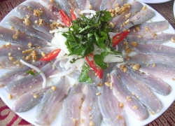 Plate of Trich raw fish in Kien Giang