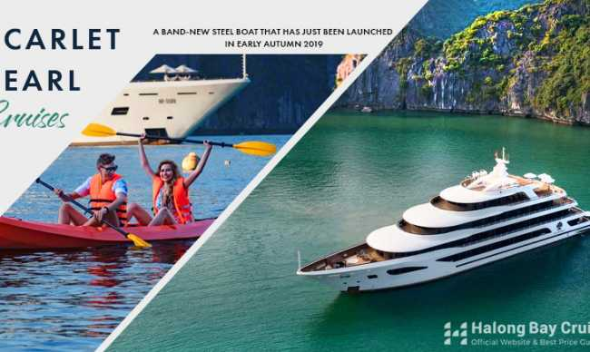 Scarlet Pearl Cruise - a brand-new luxurious modern yacht in Halong - Lan Ha Bay