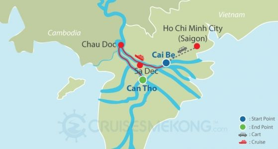 Mekong cruise Cai Be to Can Tho