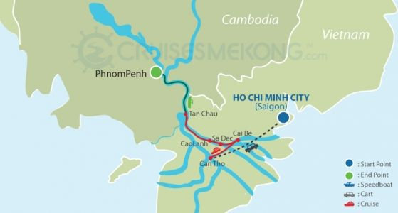 Mekong cruise Phnom Penh to Saigon