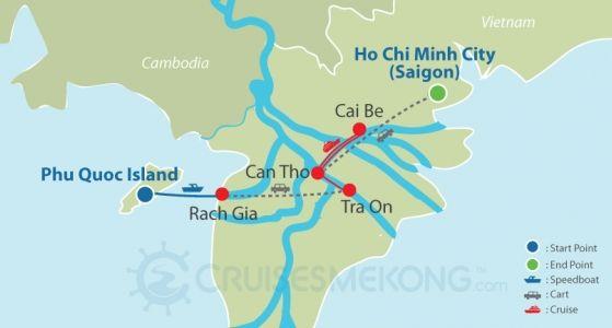 Mekong cruise Phu Quoc to Saigon