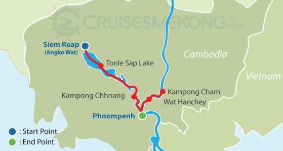 Mekong cruise Siem Reap to Phnom Penh