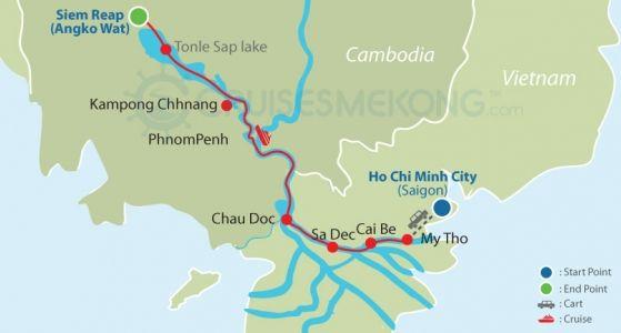 Mekong cruise Siem Reap to Saigon