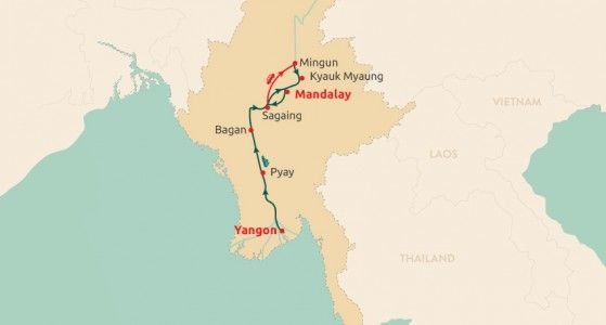 Myanmar Cruise Yangon to Mandalay