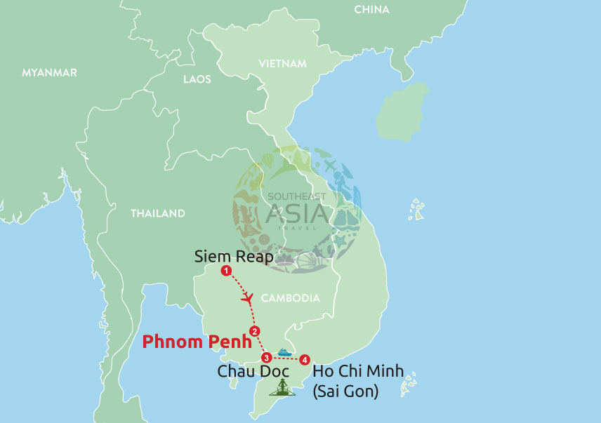 Siem Reap To Phnom Penh And Boat To Chau Doc