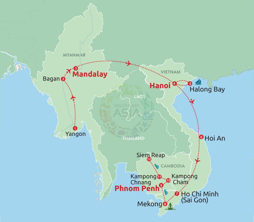 Fabulous Cruise Trip in Myanmar, Vietnam & Cambodia