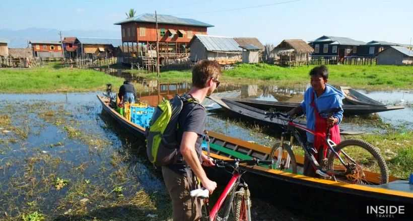 Explore Inle Lake countryside by bike