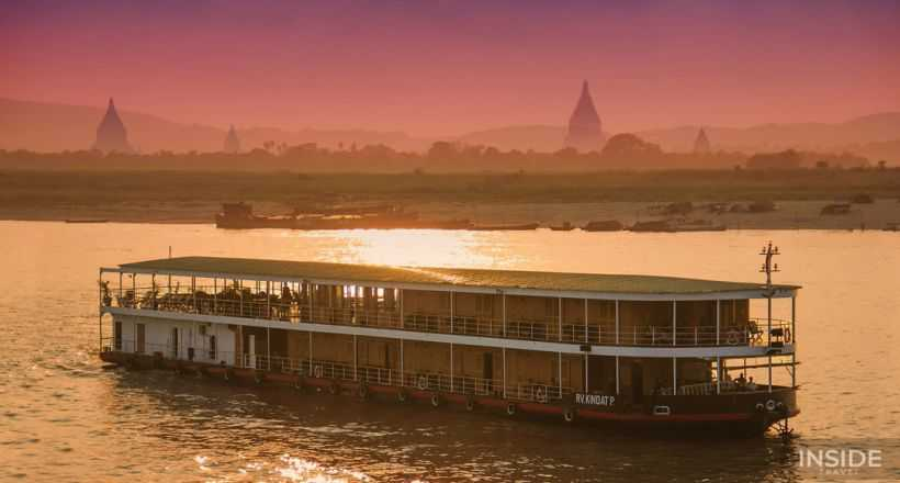 Burma way through the mighty Irrawaddy River
