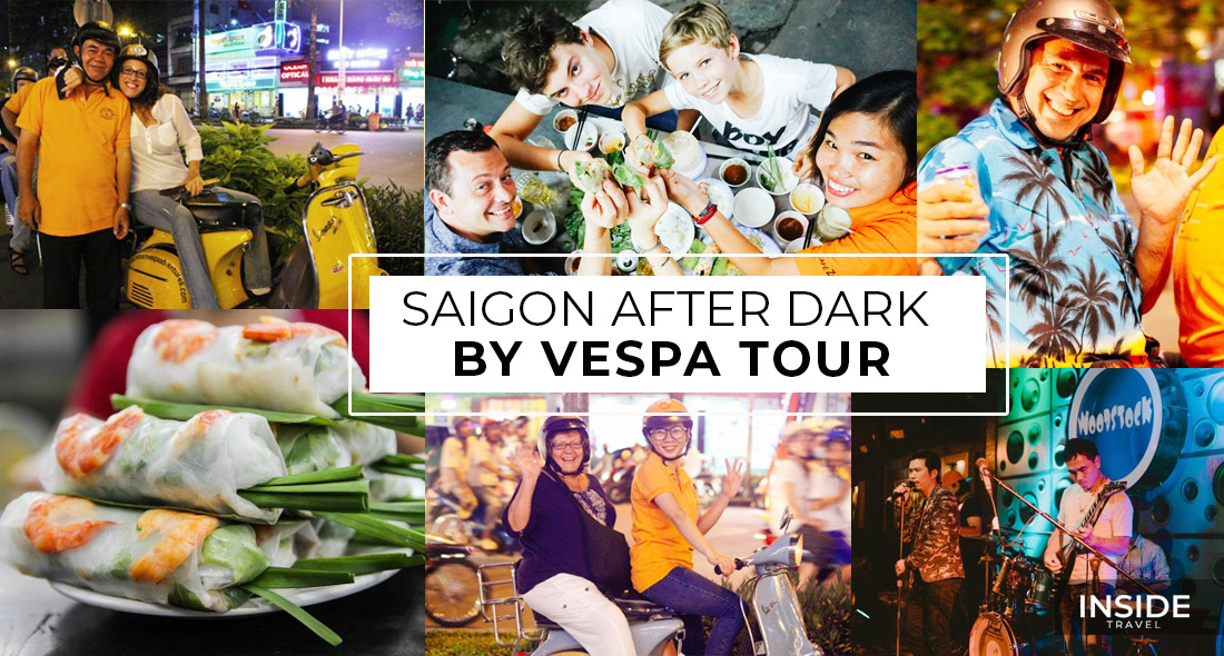 Saigon After Dark by Vespa Tour