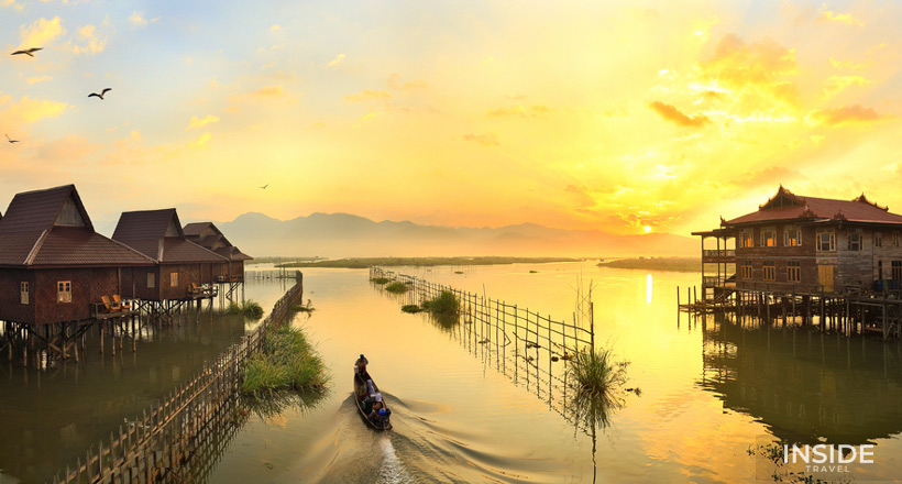Rural biking tour around Inle Lake