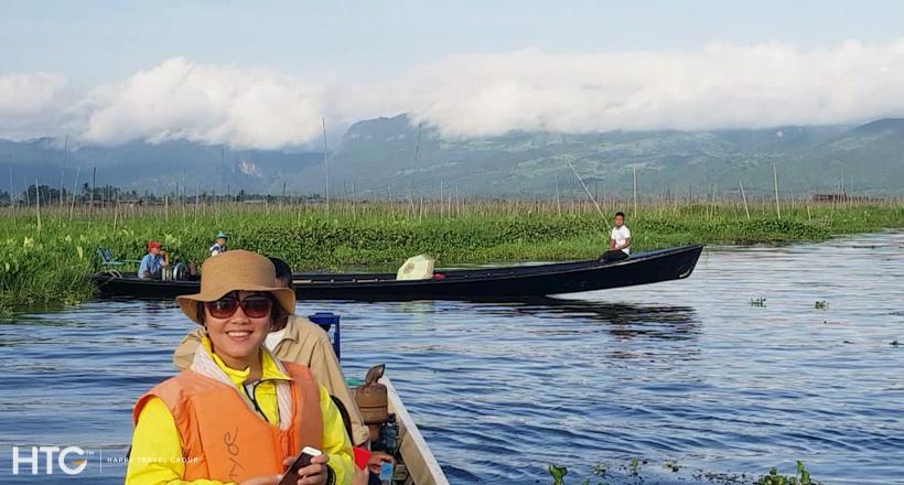 Inle lake floating tour